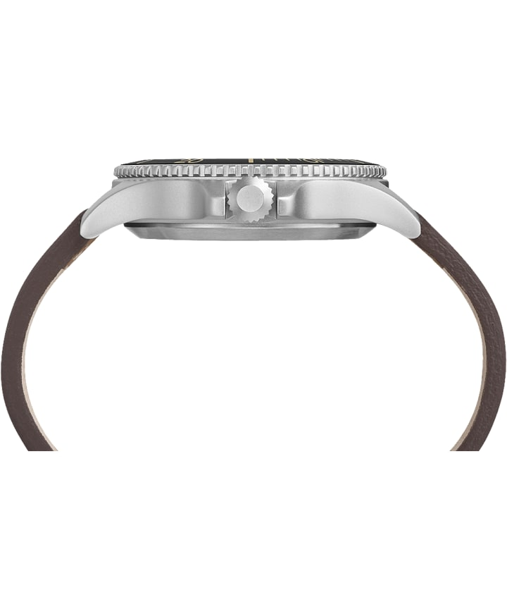 Expedition Ranger 43 mm, bracelet en cuir placage ionique/havane/naturel/noir