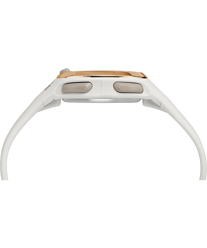 Ironman Transit 33mm Mid-Size Resin Strap Watch White/Rose-Gold-Tone large