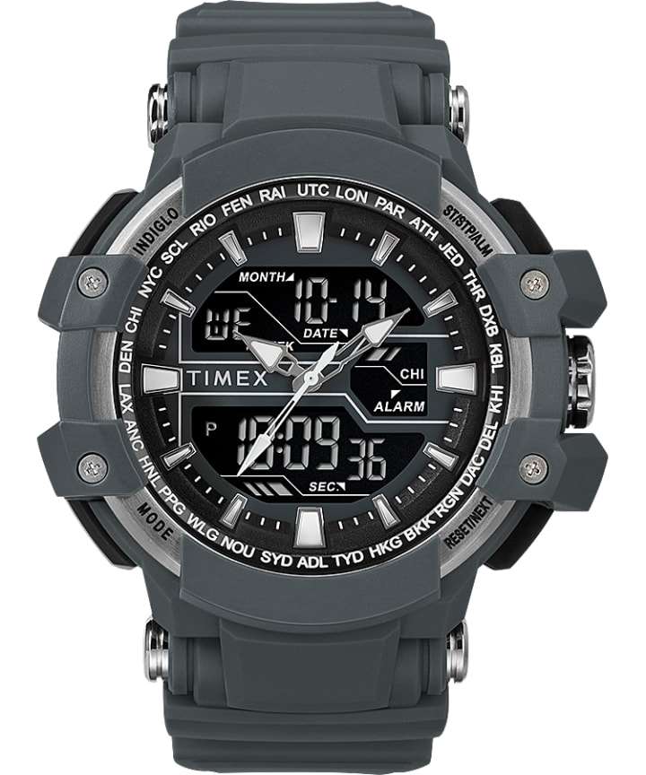 Tactic DGTL 50MM Resin Strap Combo Watch  large