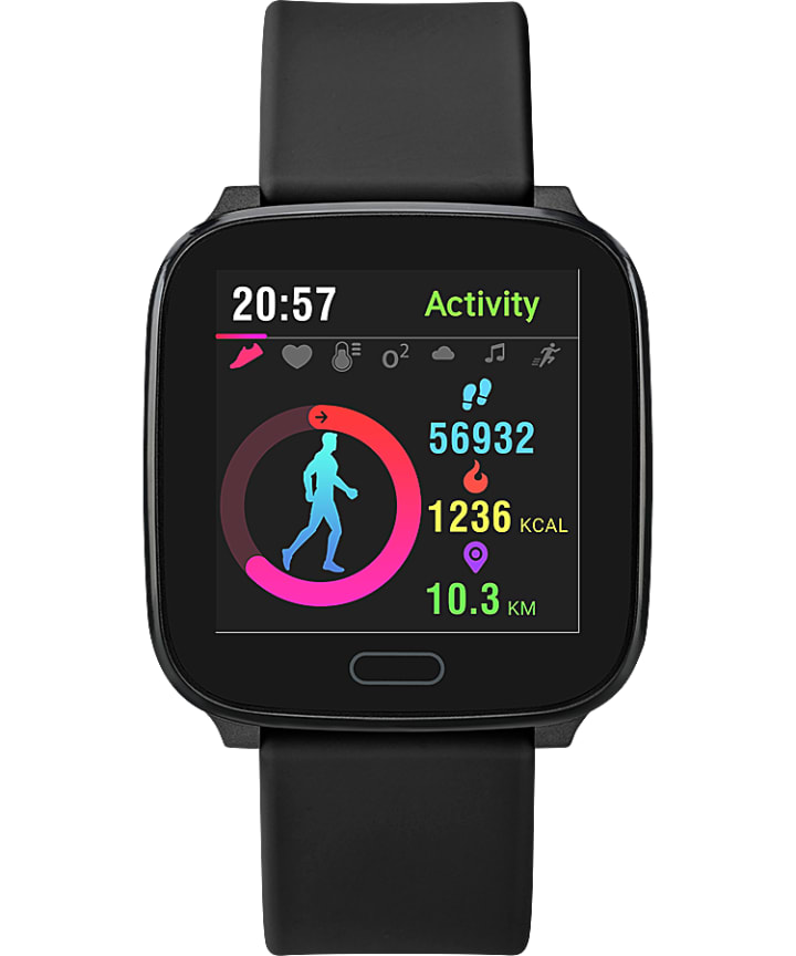 iConnect by Timex Active 37mm Resin Strap Smartwatch  large