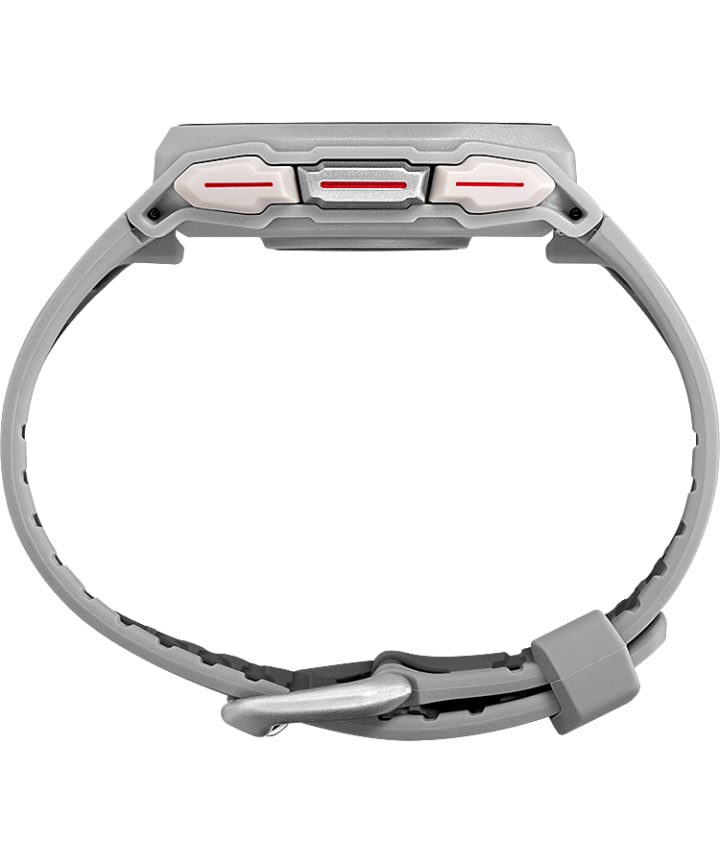 TIMEX® IRONMAN® R300 GPS 41mm Silicone Strap Watch Silver-Tone large