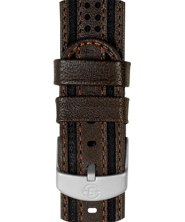 18mm Fabric with Leather Strap  large