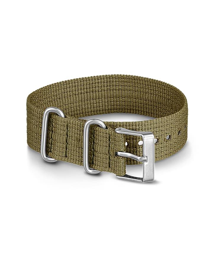 20mm Fabric Slip-Thru Single Layer Strap Green large