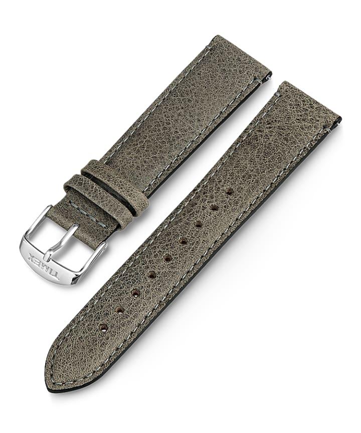 20mm iQ Light Grey Leather Strap  large