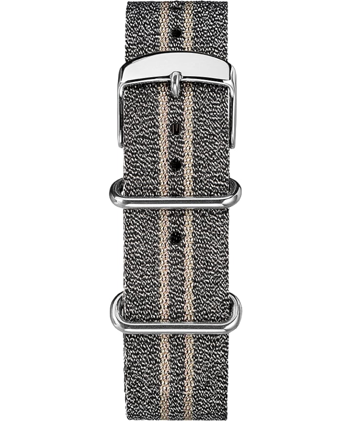20mm Metallic Stripe Slip-Thru Fabric Strap  large
