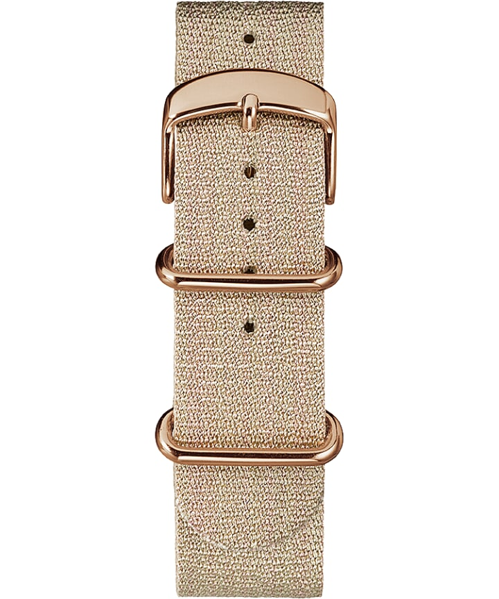 20mm Metallic Woven Fabric Slip-Thru Strap Pink large
