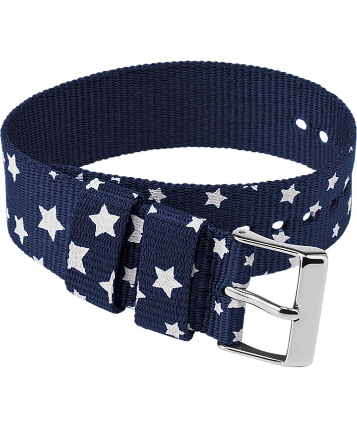 20mm Fabric Single Layer Slip Thru Strap with Stars  large