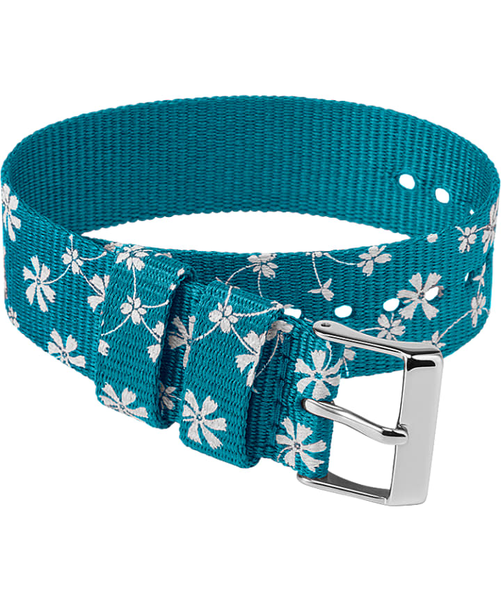20mm Fabric Single Layer Slip Thru Strap with Floral Pattern  large