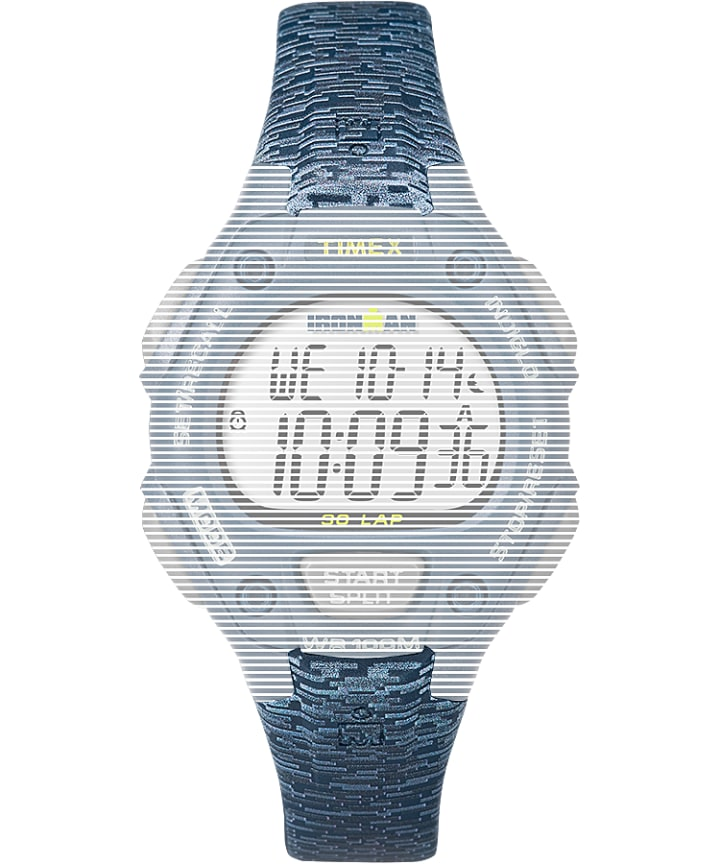 Replacement Resin 14mm Patterned Strap for Ironman Classic 30 Mid-Size  large