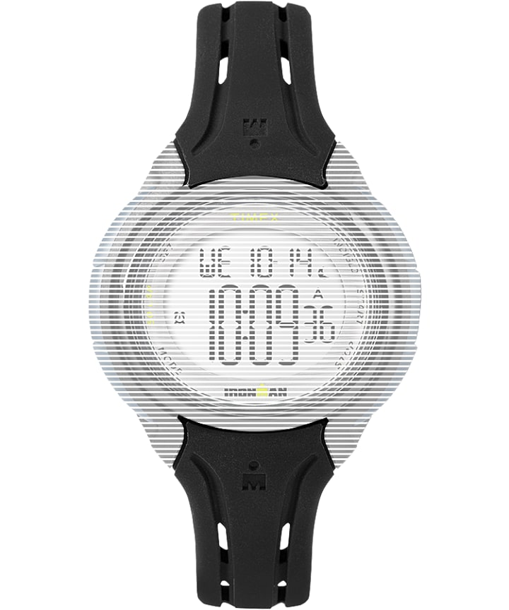 Replacement 15mm Silicone Strap for Ironman® Sleek 50 Mid-Size Black large