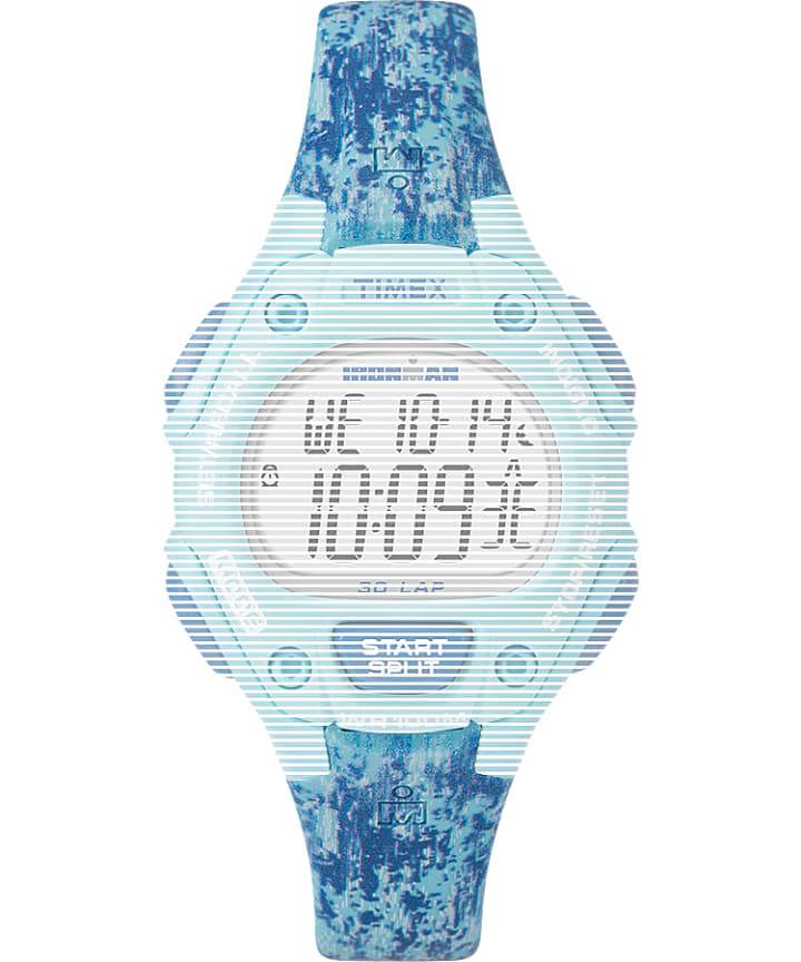 Replacement 14mm Resin Strap for Ironman® Classic 30 Mid-Size Blue large