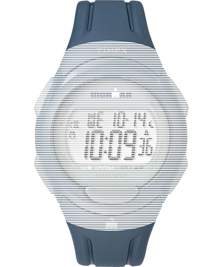 Replacement 16mm Blue Matte Resin Strap for Ironman® Essential 10 Full-Size Blue large