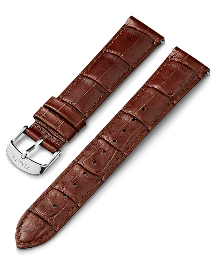 20mm Crocodial Pattern Leather Strap  large