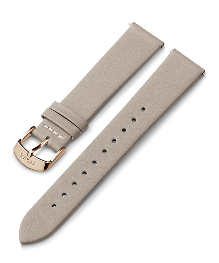 20mm Rose Gold Tone Buckle Leather Strap  large
