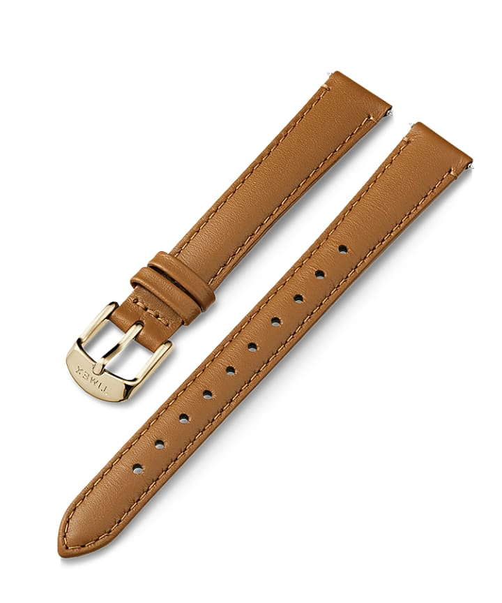 14mm Gold Buckle Leather Strap  large