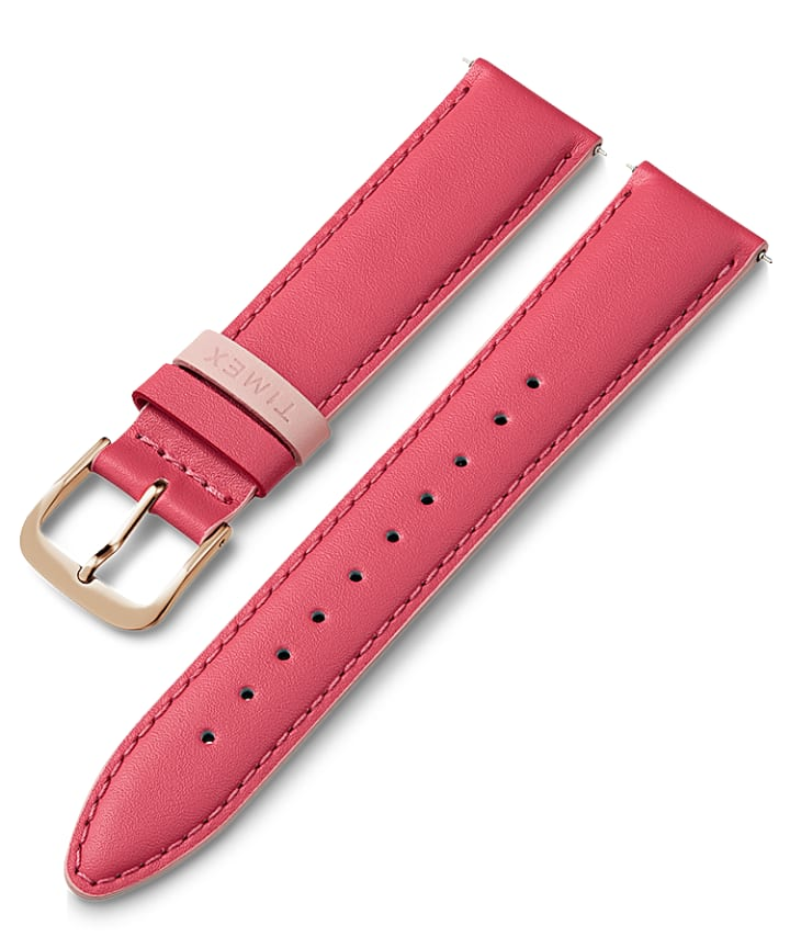20mm Leather Strap with Colored Keeper  large