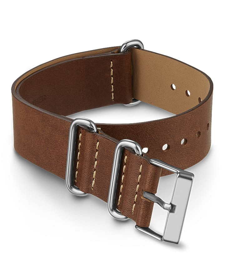 20mm Leather Slip Thru Double Layer Strap  large