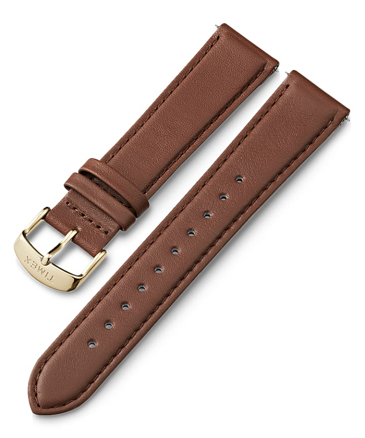 20mm Quick Release Leather Strap Brown large