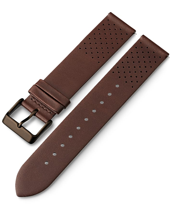 20mm Quick Release Matte Leather Strap Brown large
