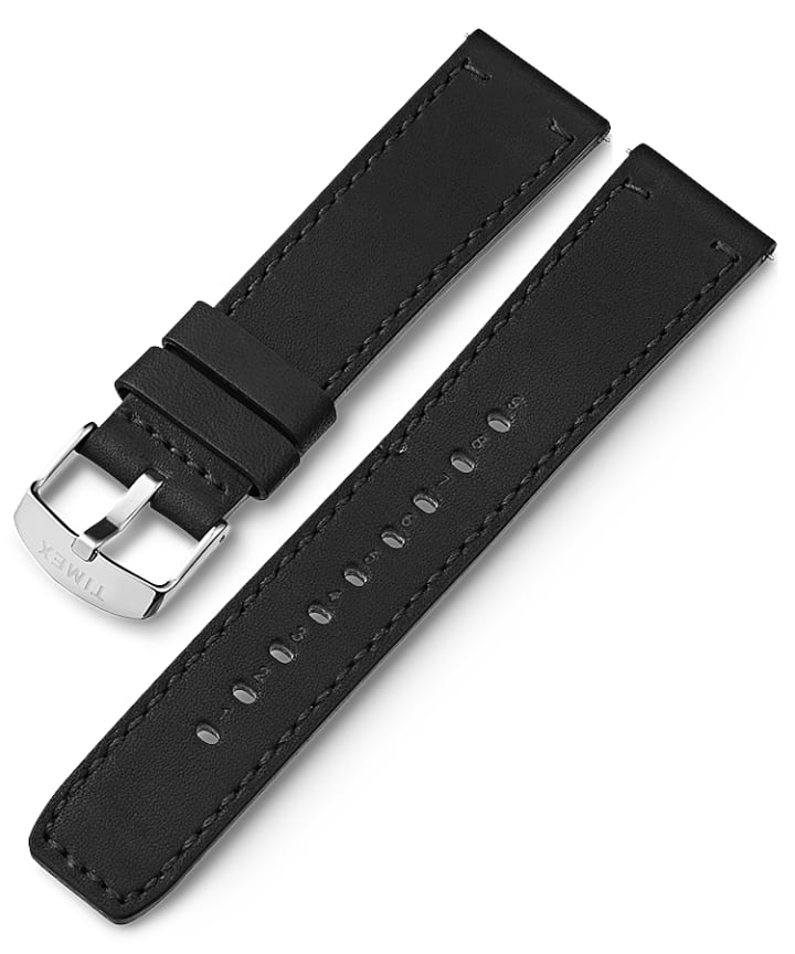 22mm Quick Release Leather Strap Stainless-Steel large