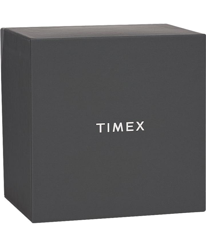 Harborside 43mm Bracelet Watch Gift Set With Extra Strap Chrome/Silver-Tone/Black large