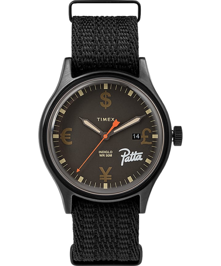 Timex x Patta 40mm Fabric Strap Watch  large