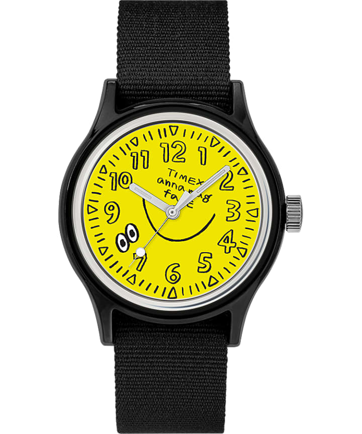 Timex x Face x Anna Analog Life 36mm Fabric Strap Watch  large