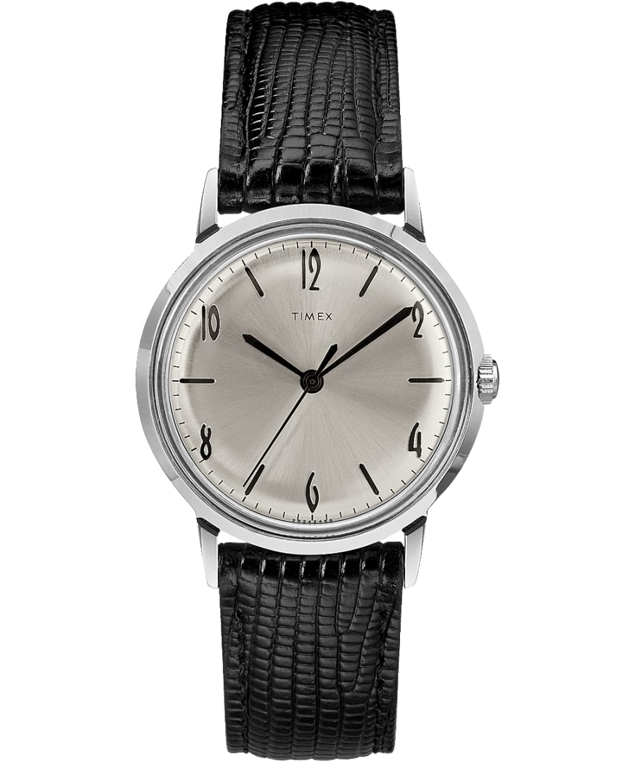 Marlin Hand-Wound 34mm Leather Strap Watch
