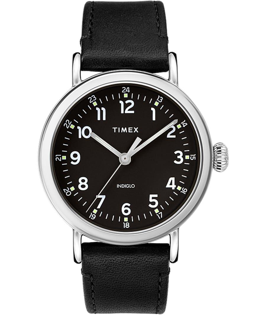 Timex Standard 40mm Leather Strap Watch