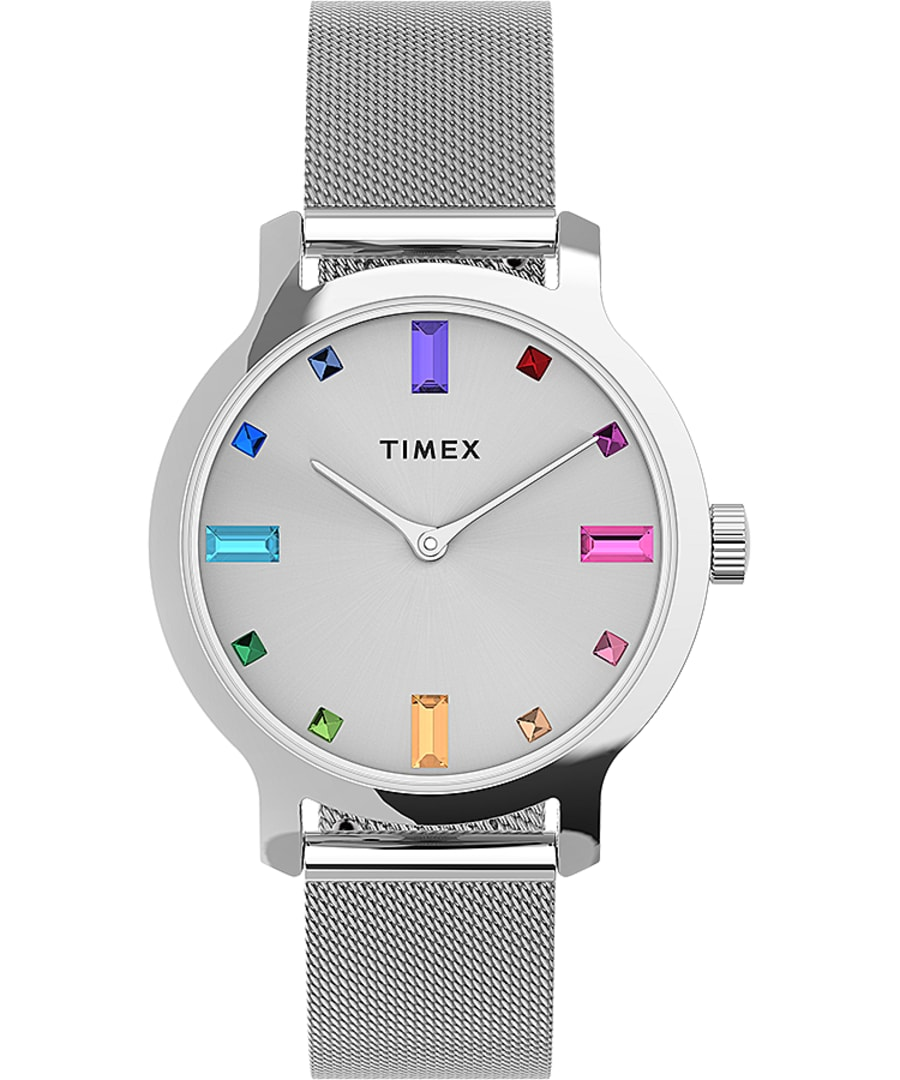 Transcend 31mm Stainless Steel Mesh Band Watch