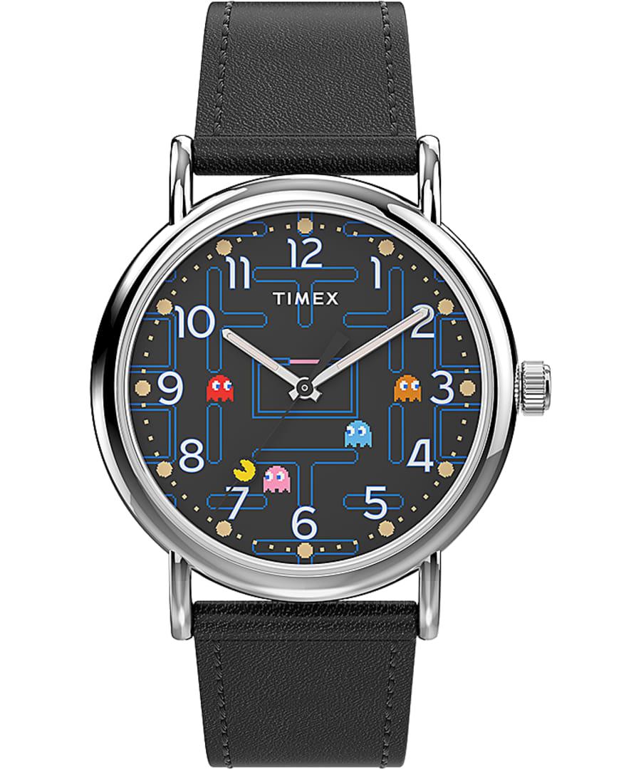 Timex Weekender x PAC-MAN 38mm Leather Strap Watch