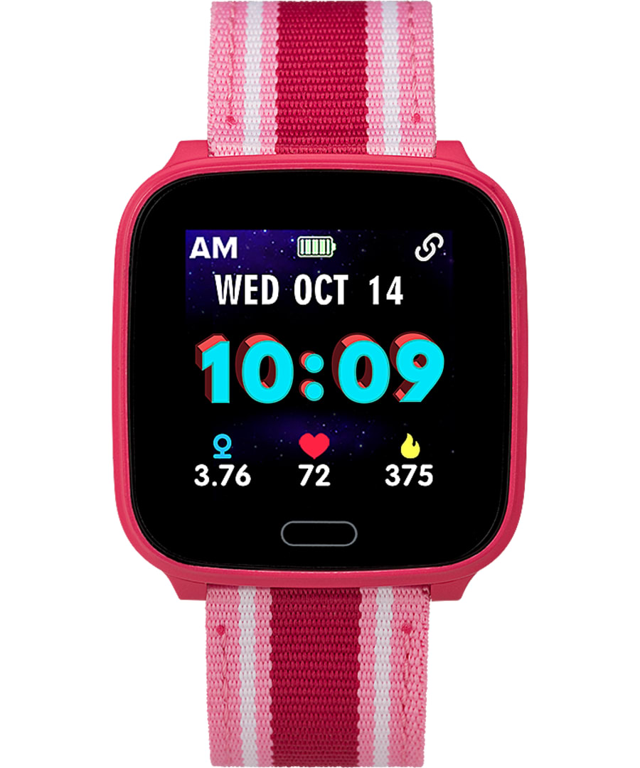 iConnect by Timex Kids Active 37mm Fabric Strap Smartwatch