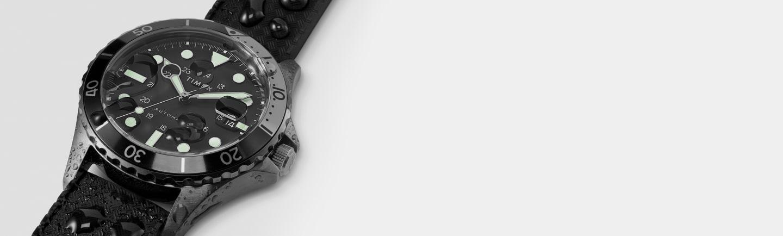 Navi XL Auto Black Dial Watch.