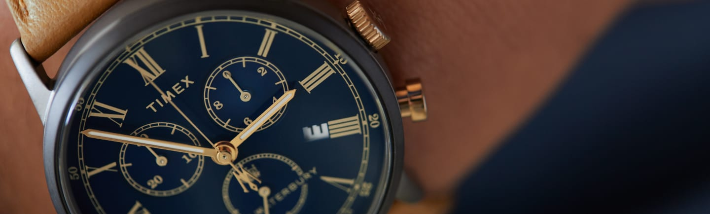 Waterbury Chrono Roman Dial Watch.