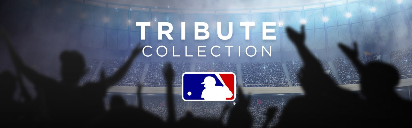 MLB Tribute Collection Header Image With MLB Logo Below