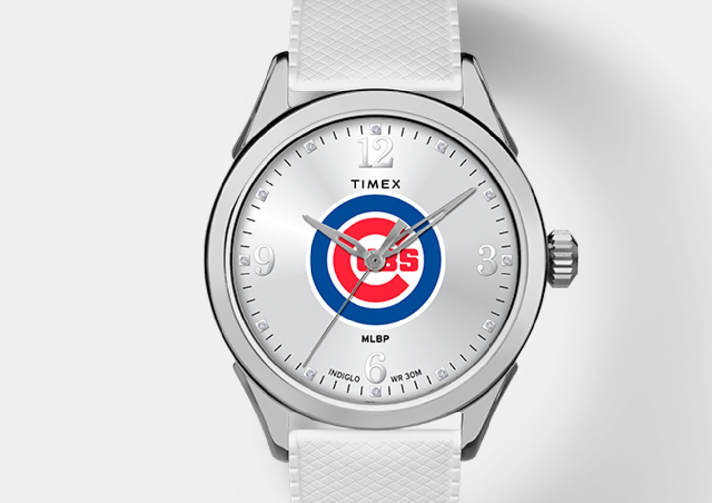 Silver Cubs Women's Watch With Silver Straps and Logo In The Center