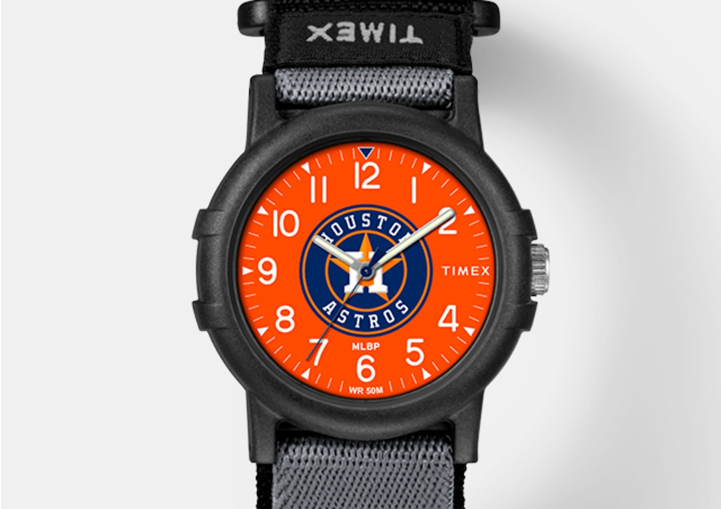 All Black Youth Watch With Orange Color and Astro's Logo In The Center