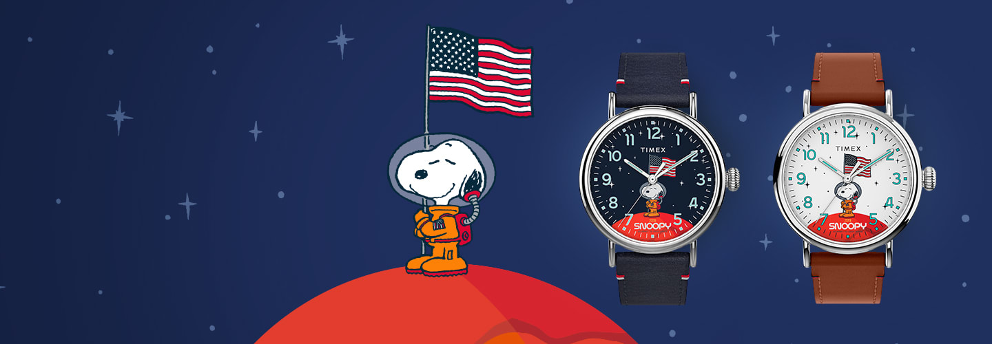 Timex X Snoopy in Space Standard Banner products