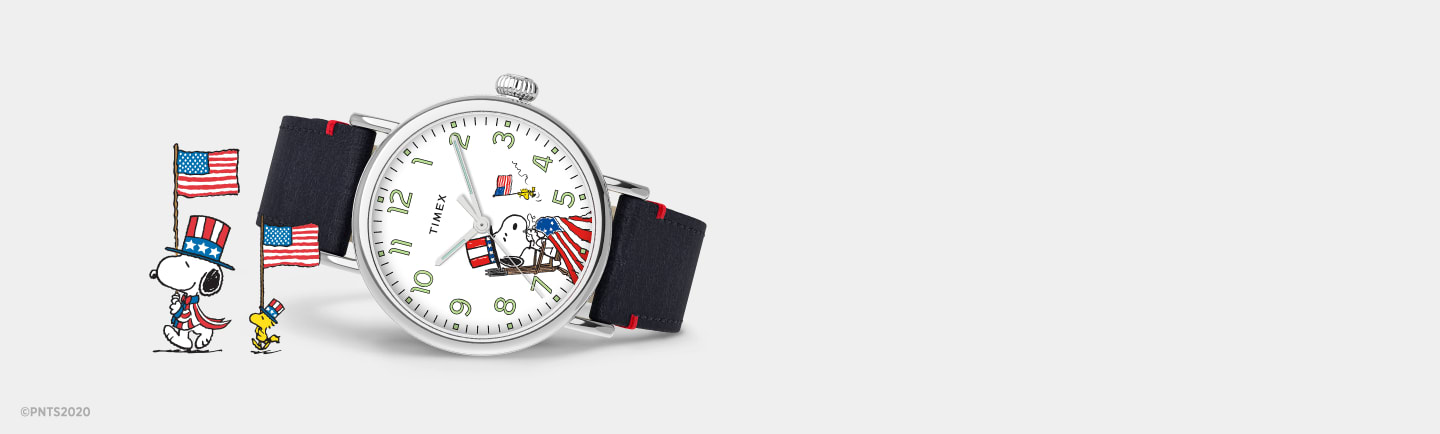 Timex Standard x Snoopy USA Watch.