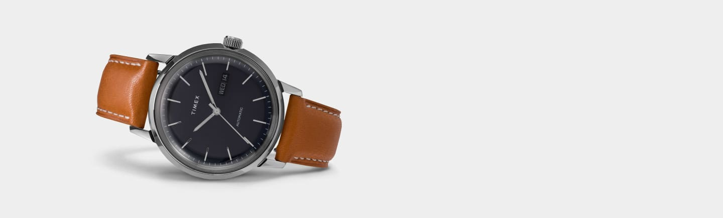 Marlin Automatic Blue Dial Watch.