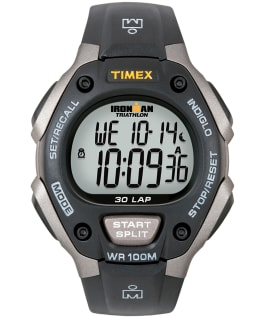 IRONMAN Classic 30 Full-Size 38mm Resin Strap Watch Gray/Black large