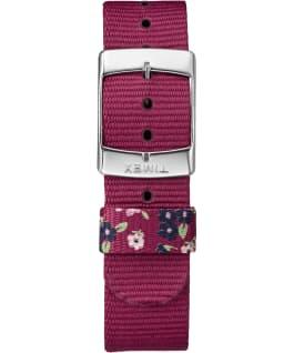 Weekender motifs 38mm, grande, bracelet en nylon chrome/rouge/crème