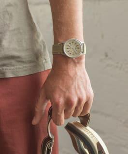 MK1 Chronographe aluminium 40mm, grande, bracelet en nylon bleu