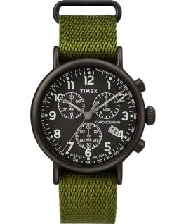 Standard Chronograph 41mm Fabric Strap Watch Black/Green large