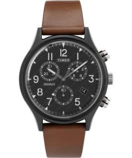 MK1 Supernova Chronograph 42mm Leather Strap Watch Gray/Brown/Black large