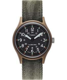 ArchiveMK1 Aluminum 40mm Fabric Strap Watch Green large