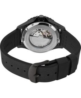 Navi XL Automatic 41mm Leather Strap Watch Stainless-Steel/Black/Black large