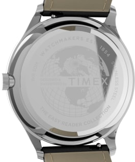 Easy Reader Gen1 40mm Leather Strap Watch Silver-Tone/Black large
