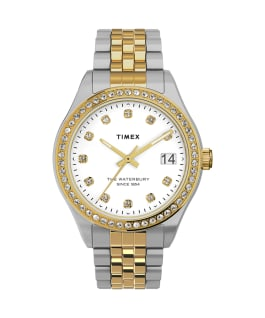 Waterbury Legacy with Swarovski Crystals 34mm Stainless Steel Bracelet Watch Two-Tone/Silver-Tone large