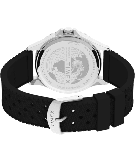 Navi XL 41mm Silicone Strap Watch Stainless-Steel/Black/Blue large